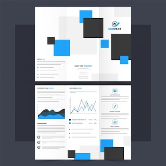 Folheto tri-fold de negócios, design de folheto.