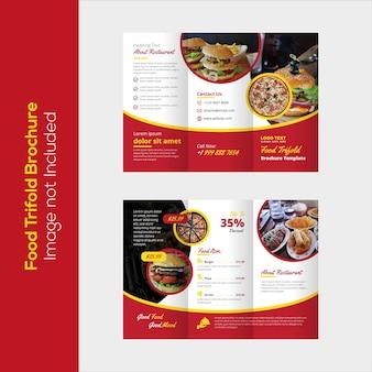 Folheto trifold de alimentos