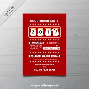 Folheto vermelho do partido de ano novo