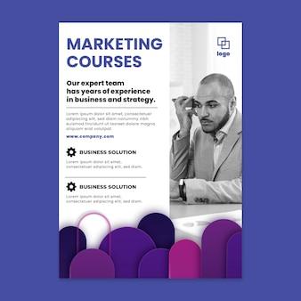Folheto vertical comercial de marketing