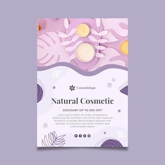 Folheto vertical cosmético natural