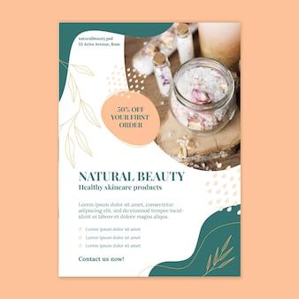 Folheto vertical de beleza natural
