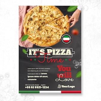 Folheto vertical de comida italiana