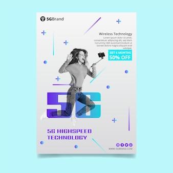 Folheto vertical de conexão 5g