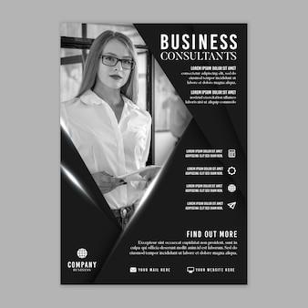 Folheto vertical de negócios em geral