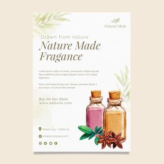 Folheto vertical de produtos naturais