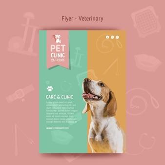 Folheto vertical veterinário