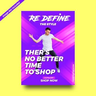 Folhetos de compras promocionais modernos