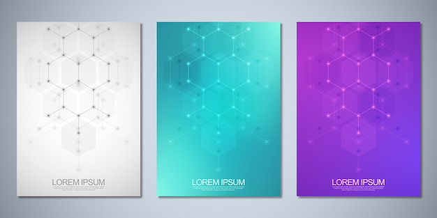 Folhetos de modelos ou folheto de livro de design de capa