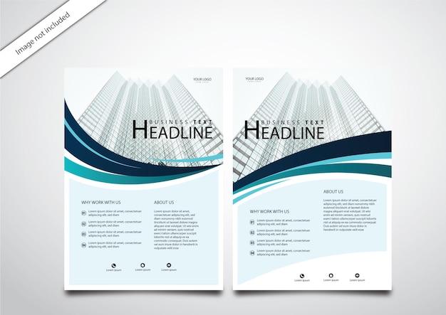 Folhetos de negócios modernos