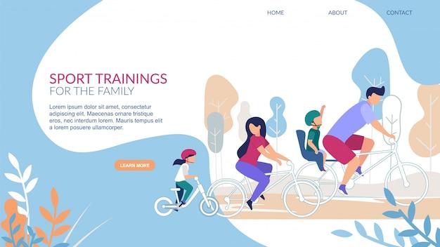 Folhetos informativos sobre treinamentos esportivos para a família.