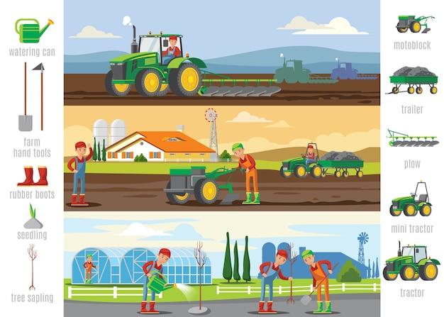 Folhetos sobre agricultura e agricultura