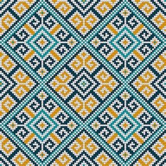 Folk tradicional tricô sem costura padrão