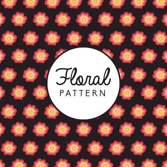 Fondo patrón floral rosa