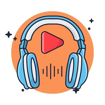 Fone de ouvido e música