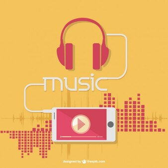 Fones de ouvido da música