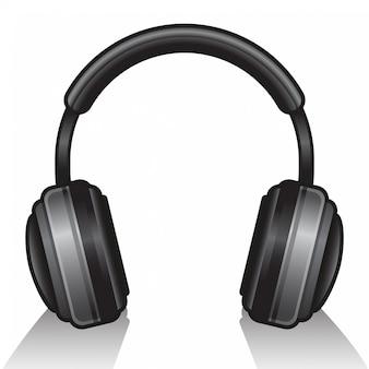 Fones de ouvido isolados no branco