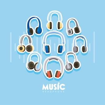 Fones de ouvido nove dispositivos