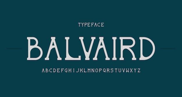 Fonte alfabética serif elegante e moderna