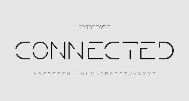 Fonte alfabeto moderno mínimo sem serifa