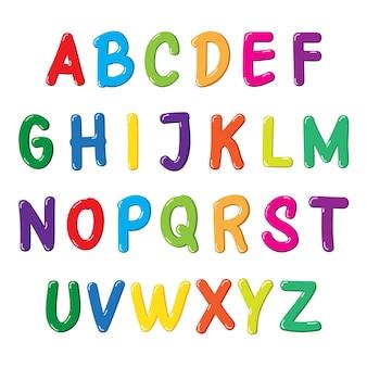 Fonte colorida para crianças