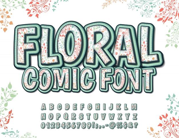 Fonte com padrão floral