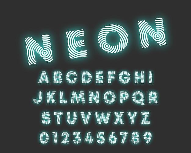 Fonte de alfabeto de linha circular