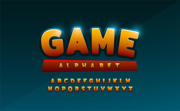 Fonte de alfabeto de quadrinhos. desenhos de logotipo em quadrinhos de tipografia