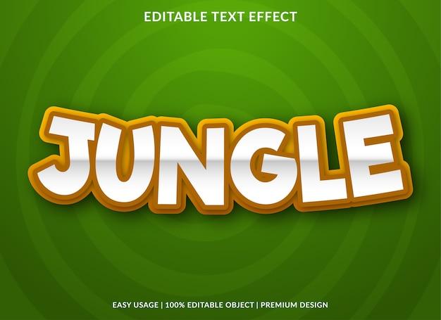 Fonte de desenho de efeito de texto selva