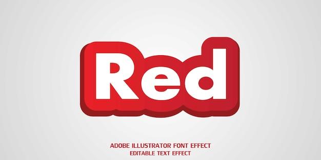 Fonte de efeito de estilo de texto editável vermelho