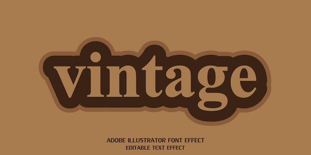 Fonte de efeito de estilo de texto editável vintage