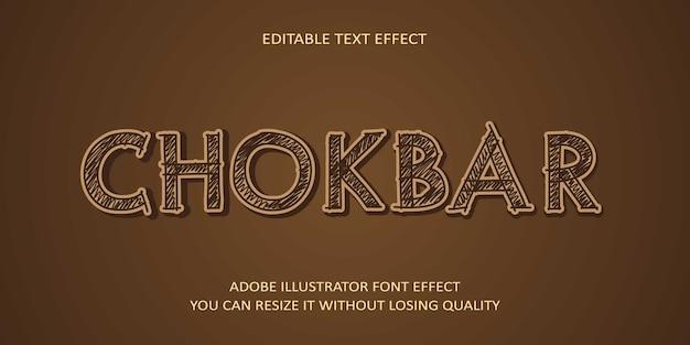 Fonte de efeito de texto editável chokbar