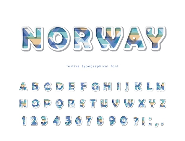 Fonte de estilo escandinavo