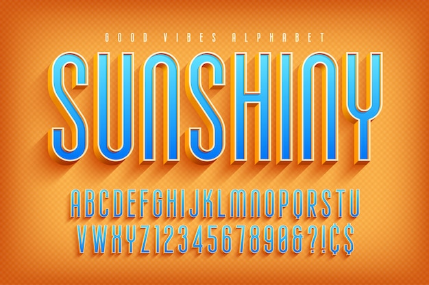 Fonte de exibição 3d sunshiny
