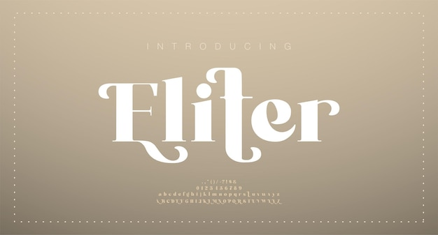 Fonte de letra do alfabeto de casamento elegante. tipografia luxo clássico serif fontes decorativas vintage retro