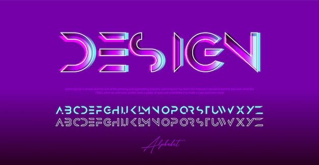 Fonte de letras do alfabeto impressionante elegante. fontes de tipografia em maiúsculas regulares.