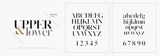 Fonte de letras do alfabeto moda elegante