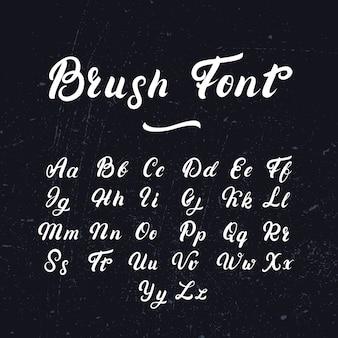 Fonte de letras escritas à mão.