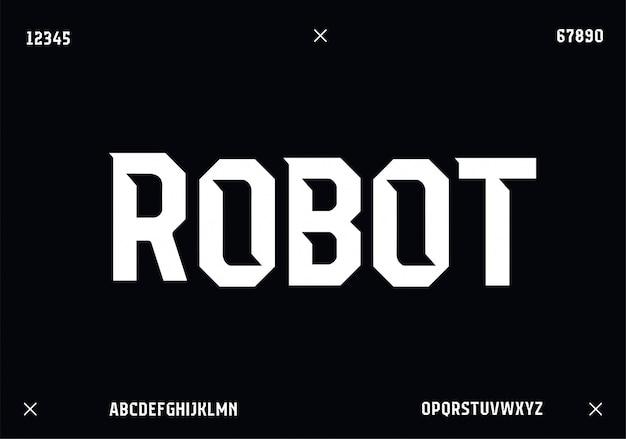 Fonte de lphabet moderno do esporte. fontes de estilo urbano de tipografia para tecnologia, digital, design de logotipo do filme.