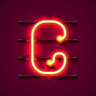 Fonte de néon letra g, quadro indicador de design de arte. ilustração vetorial