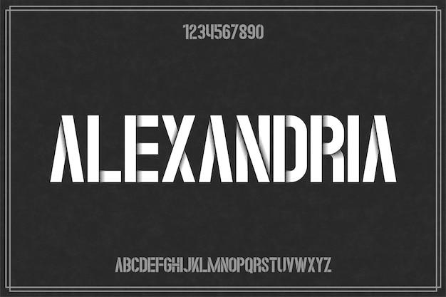 Fonte de número de letras do alfabeto maravilhoso