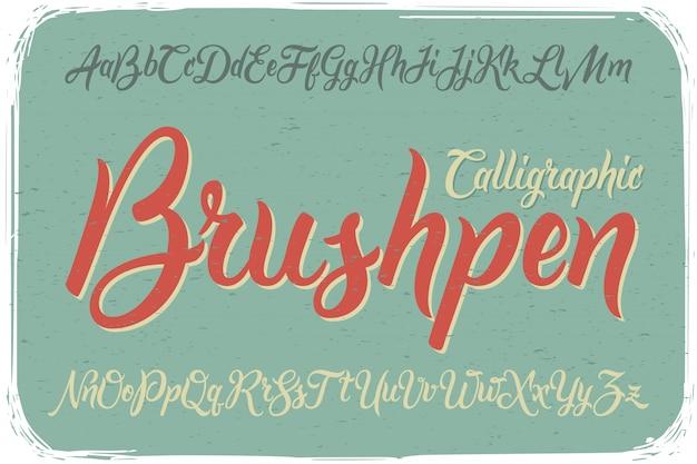 Fonte de pincel caligráfico