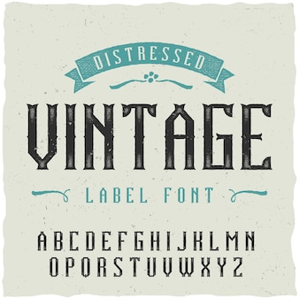 Fonte de rótulo vintage. bom para usar em qualquer design de etiqueta clássico.