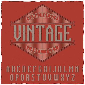 Fonte de rótulo vintage