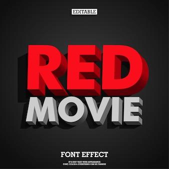 Fonte de tipo de letra vermelho 3d moderno bold (realce) forte e vermelho
