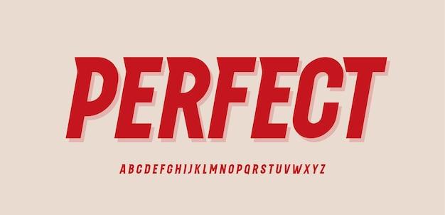 Fonte dinâmica com alfabeto em negrito estreito e tipo de velocidade vintage tiangle serif moderno para logotipo