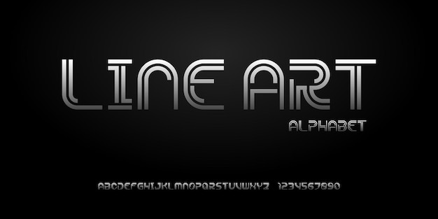 Fonte do alfabeto abstrato moderno. fontes de estilo urbano de tipografia para tecnologia, digital, filme, design de logotipo