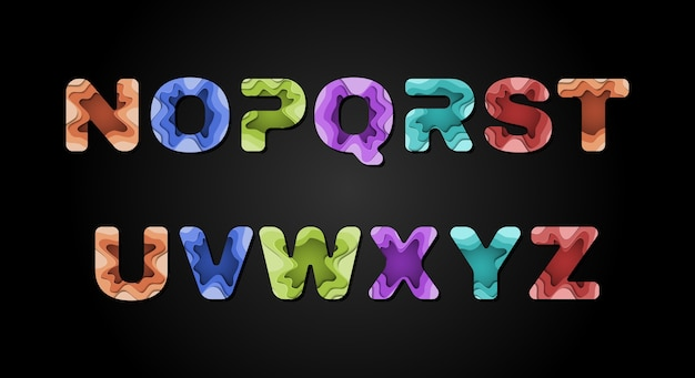 Fonte do alfabeto abstrato moderno. fontes de estilo urbano de tipografia para tecnologia, digital, filme, logotipo