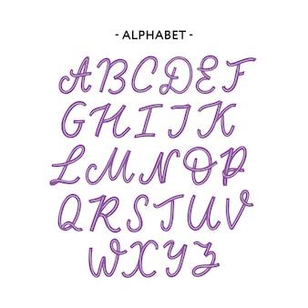 Fonte do alfabeto de tipografia