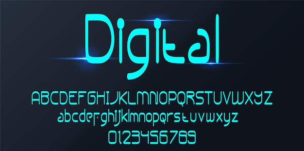 Fonte do alfabeto digital